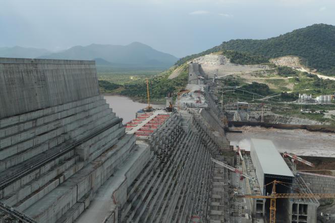 Le grand barrage de la Renaissance, sur le Nil Bleu en Ethiopie, le 26 septembre 2019.