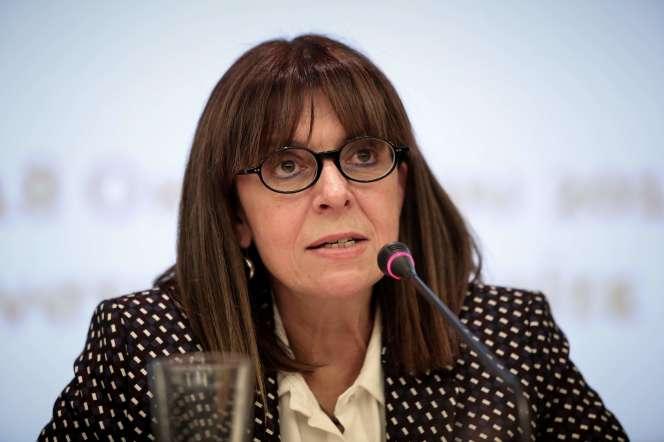 La présidente du Conseil d'Etat, Ekaterini Sakellaropoulou, le 18 octobre 2018 à Athènes.