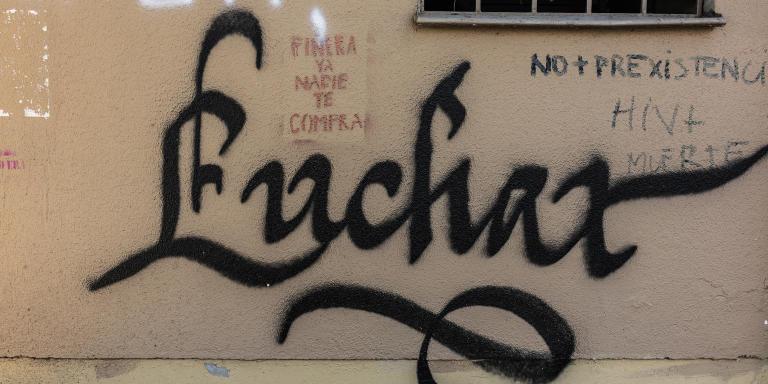 A graffiti saying