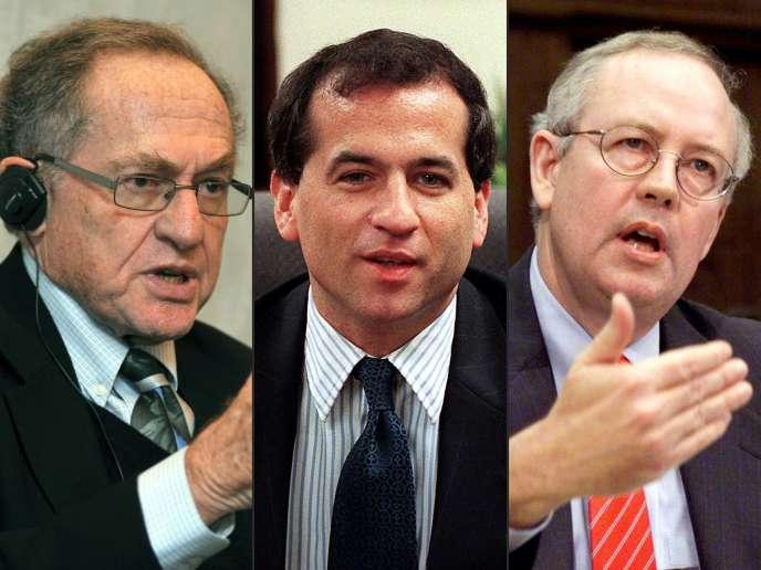 Alan Dershowitz, Robert Ray et Kenneth Starr, choisis par Donald Trump pour le défendre contre la procédure de destitution inititée par les démocrates.