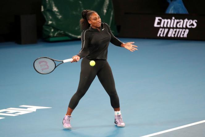 Serena Williams, le 16 janvier à Melbourne.