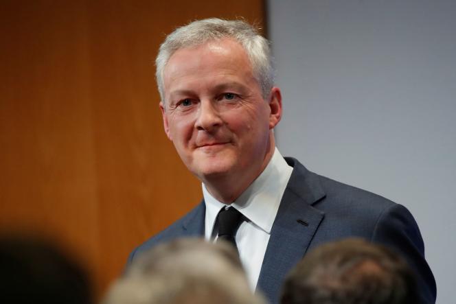 Bruno Le Maire, le ministre de l'économie,à Paris, le 7 janvier.
