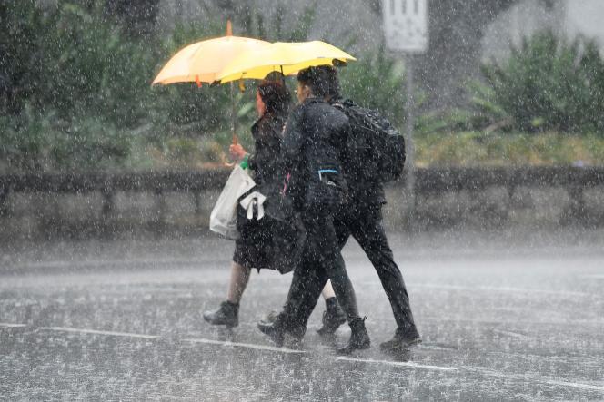 Une tempête a éclaté à Sydney, dans l'est de l'Australie, le 17 janvier2019.