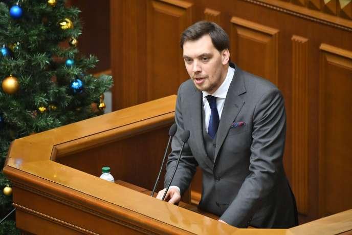 Le premier ministre ukrainien, Oleksii Hontcharouk, au Parlement de Kiev, le 17 janvier 2020.
