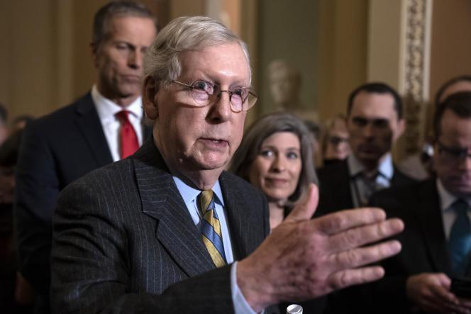 Mitch McConnell au Capitole, à Washington, le 14 janvier.