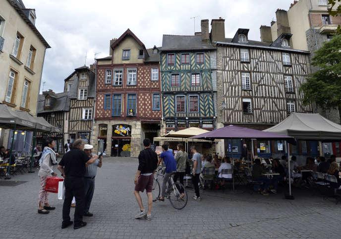 La vieille ville de Rennes (Ille-et-Villaine).