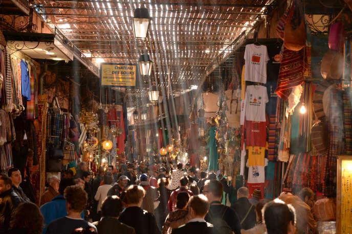 Le marché de Marrakech, en décembre 2014.