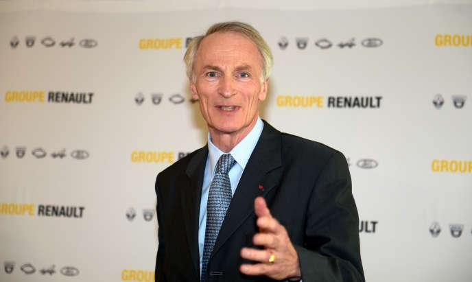 Le président de Renault, Jean-Dominique Senard, au siège de la marque au losange, à Boulogne-Billancourt (Hauts-de-Seine), près de Paris, en octobre 2019.