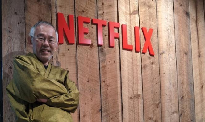 Le producteur du studio Ghibli, Toshio Suzuki, dans les locaux de Netflix à Tokyo, en janvier 2020.