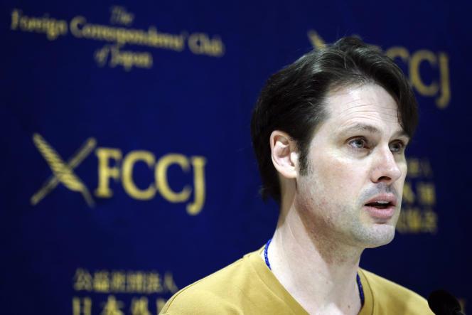 L'AustralienScott McIntyre, lors d'une conférence de presse à Tokyo, le 16 janvier.