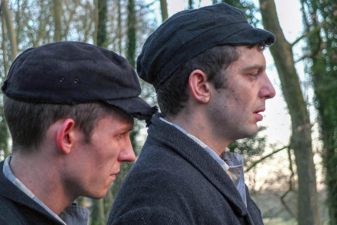 Rudolf Vrba (David Moorst) et Alfred Wetzler (Michael Fox), dans une scène de reconstitution.