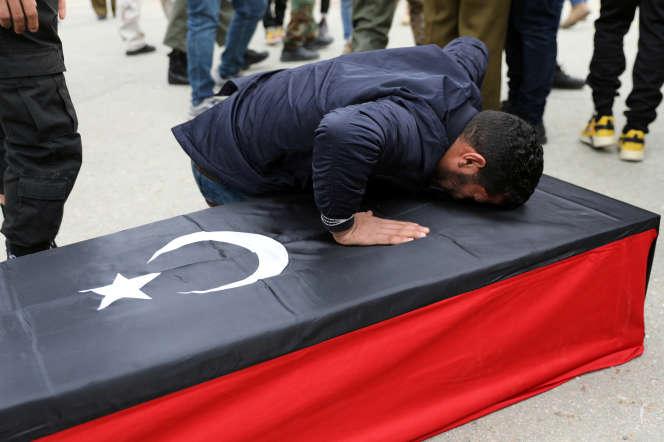 Après l'attaque contre l'académie militaire de Tripoli, en Libye, le5 janvier 2020.
