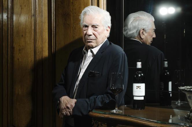 Mario Vargas Llosa, à Paris, le 4 octobre 2019 au George V.