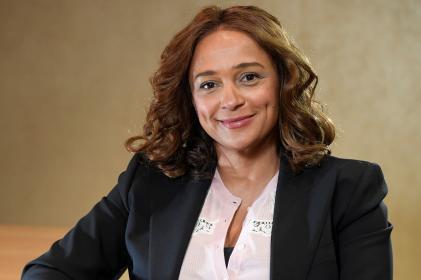 La milliardaire Isabel Dos Santos, fille de l'ancien président angolais, à Londres, en janvier 2020.
