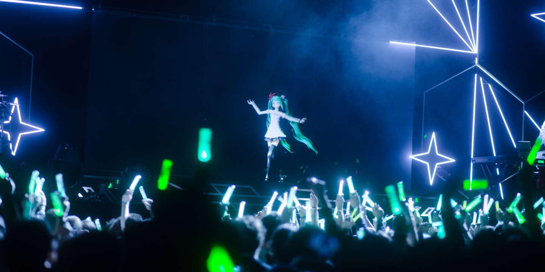 16 janvier 2020, Paris. Hatsune Miku, vocaloid japonais, fait un concert au Zenith.