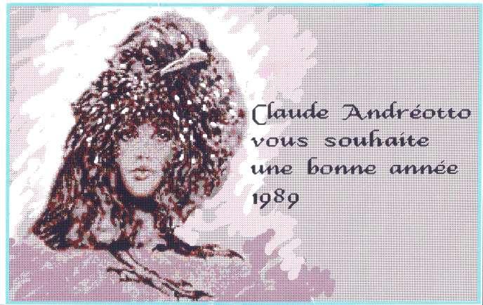 Voeux 1989 de Claude Andréotto (tirage numérique).