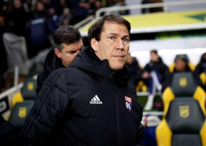 Rudi Garcia, lors du match contre Nantes, le 18 janvier.
