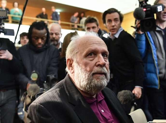 L'ex-curé Bernard Preynat, au tribunal correctionnel de Lyon, le 13 janvier.
