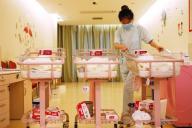 Dans une maternité de Shanghaï, en mai 2018.