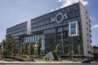 Le siège de l'entreprise portugaise de télécommunications Nos, à Lisbonne, en août 2017. Isabel dos Santos a des parts dans cette compagnie.