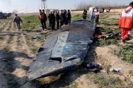 Un débris de l'avion de la compagnie Ukraine International Airlines (UIA), qui s'est écrasé le 8 janvier près de Téhéran.
