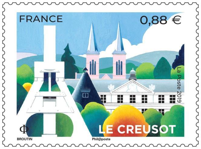 « Le Creusot»: timbre créé par Christian Broutin.