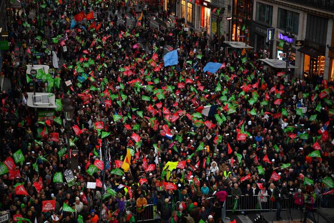Manifestation contre la orocréation médicalement assistée, dimanche19janvier àParis.