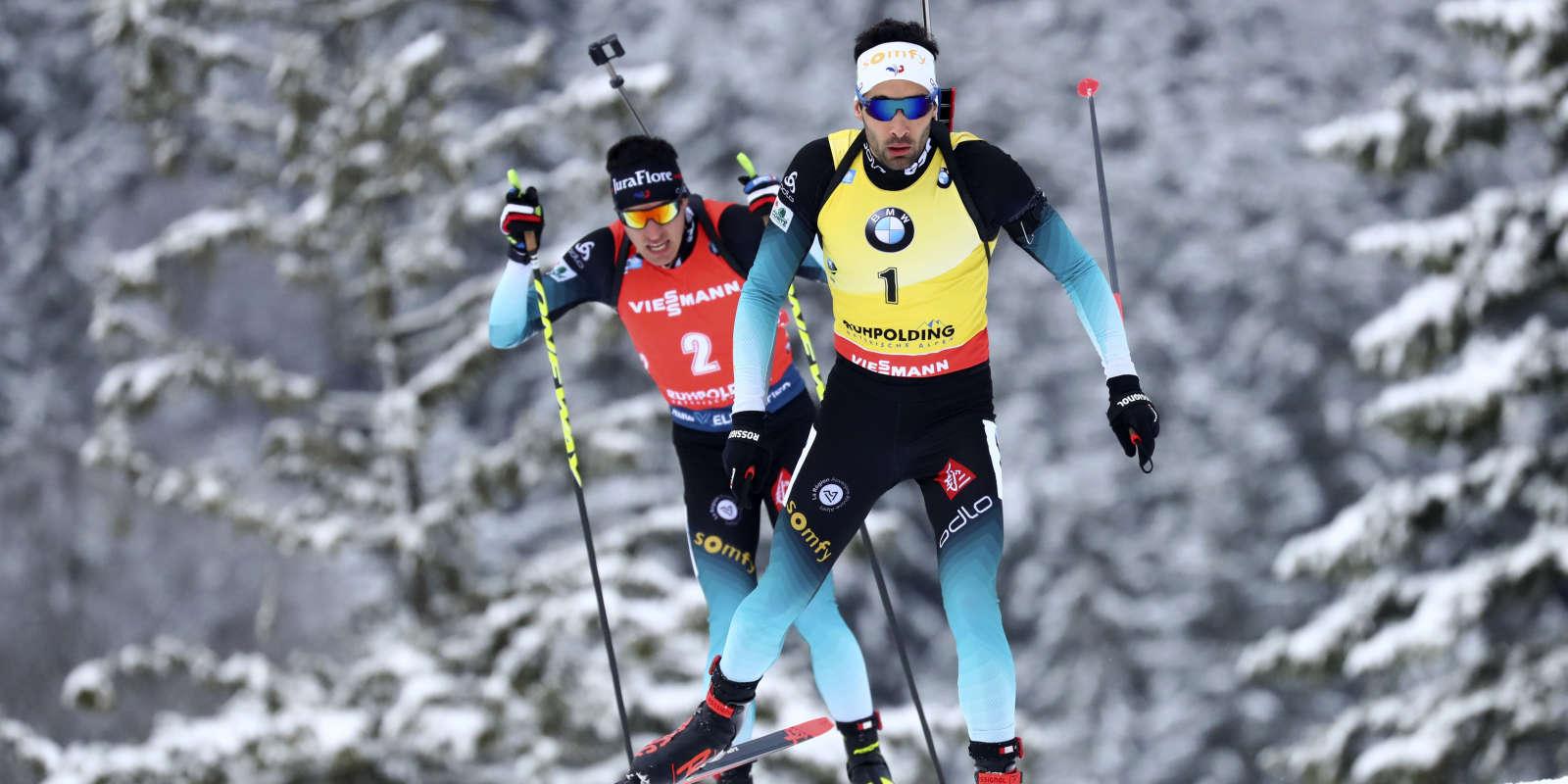 Martin Fourcade a remporté la poursuite de Ruhpolding (Allemagne) devant son compatriote Quentin Fillon-Maillet, dimanche 19 janvier.