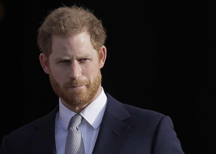 Le prince Harry à Londres, le 16 janvier 2020.