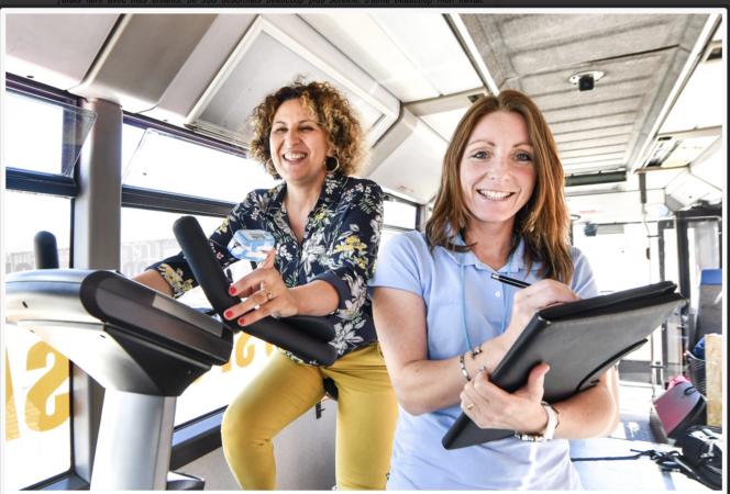 Le« bus sport-santé » de l'association DK Pulse propose un dispositif mobile d'activité physique adaptée, en milieu rural.