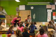 Ecole primaire à la pédagogie innovante, le Blé en herbe est situé à Trébédan(Côtes-d'Armor)