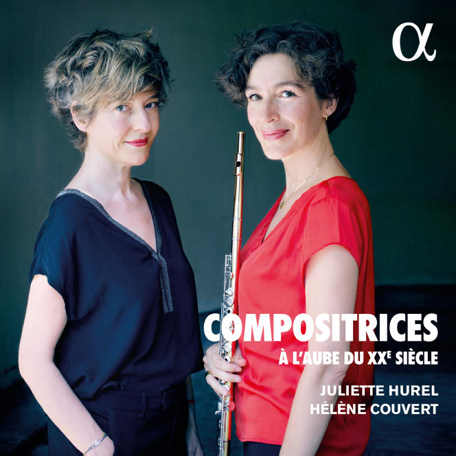 Pochette de l'album«Compositrices à l'aube du XXe siècle», de Juliette Hurel et Hélène Couvert.