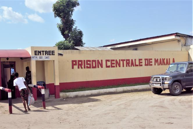 A Kinshasa, capitale de la RDC, l'entrée de la prison de la Makala en 2019.
