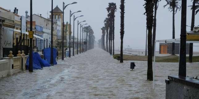 Tempête Gloria: trois morts en Espagne, vigilance orange dans les Pyrénées-Orientales