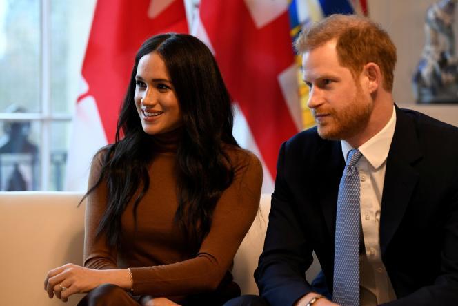 Le prince Harry et son épouse, Meghan, le 7 janvier à Londres.