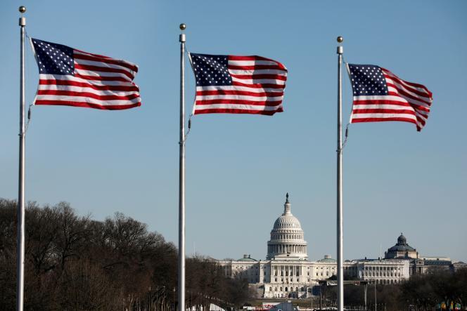 Le Capitole de Washington, à la veille de l'ouverture du procès en destitution de Donald Trump, lundi 20 janvier.