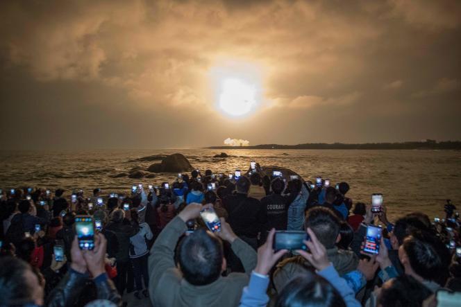 Lancement de la fusée «Longue Marche 5», le 27décembre2019 à Wenchang, dans le sud de la Chine.