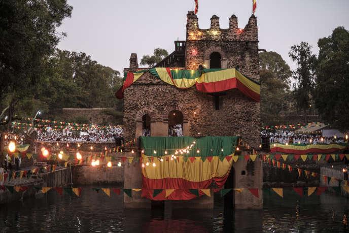 En Ethiopie, la fête orthodoxe de Timkat célèbre à la fois le baptême du Christ dans le Jourdain et l'Epiphanie. Ici à Gondar, le 19 janvier 2020.