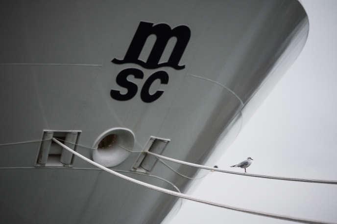Le paquebot «MSC Grandiosa» avant son départ des Chantiers de l'Atlantique, à Saint-Nazaire (Loire-Altantique), le 31 octobre 2019.