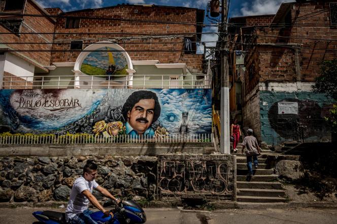 Le barrio Pablo Escobar, à Medellin, en Colombie, en 2018.