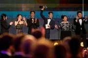 Les acteurs principaux du film« Parasite» reçoivent leur récompense aux Screen Actors Guild Awards, à Los Angeles, dimanche19janvier.