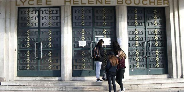 Devant le lycée Hélène-Boucher, un rassemblement contre l'« action brutale » de la police