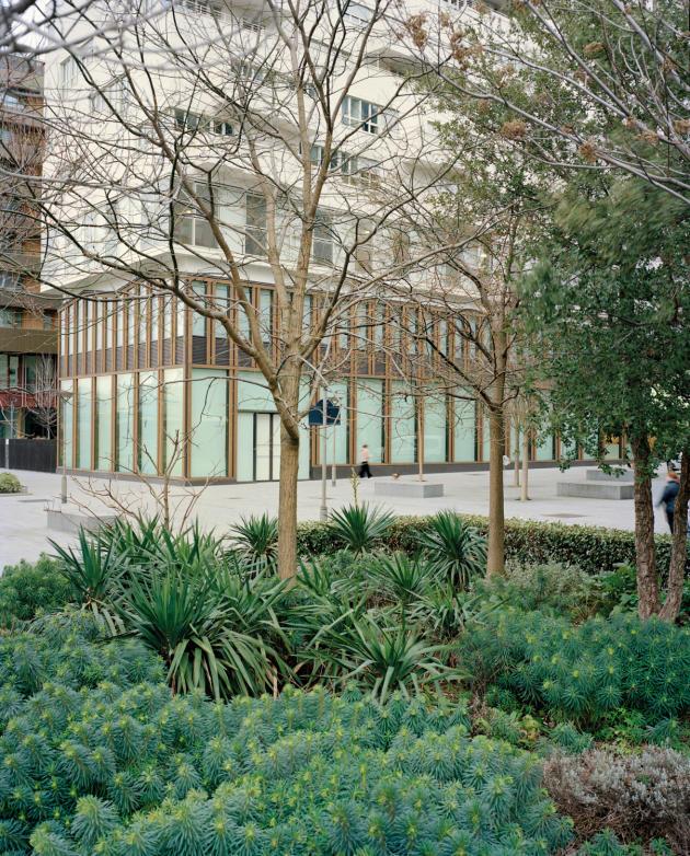 L'immeuble sur pilotis conçu par l'architecte Augustin Rosensthiel.