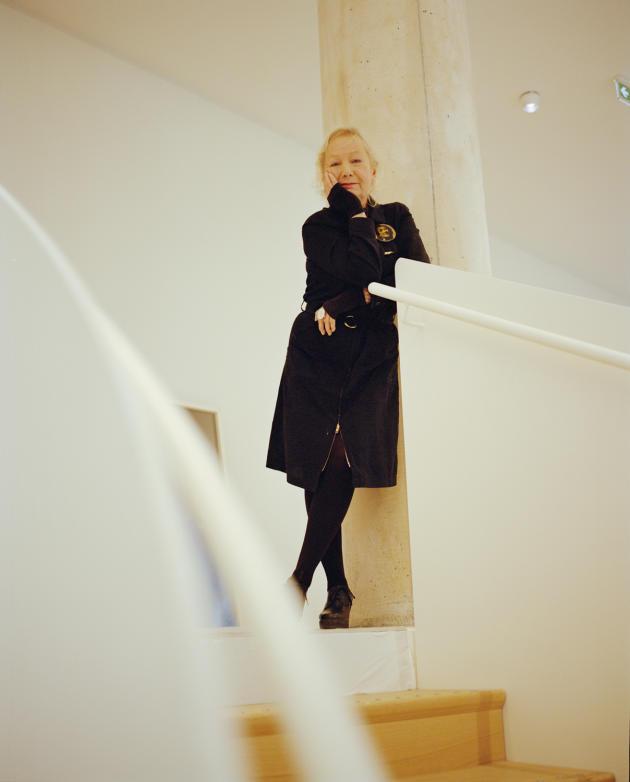 Agnès b. dans son nouveau lieu, le Fab, dans le 13e arrondissement, à Paris.
