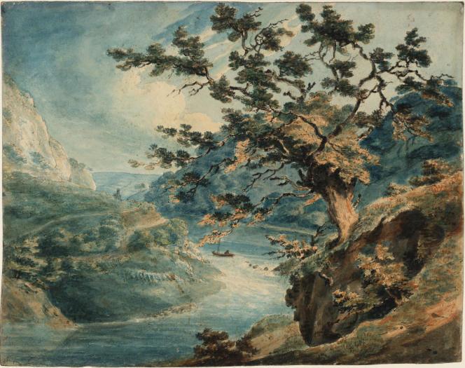«Vue des gorges de l'Avon», 1791, crayon, encre et aquarelle sur papier. (Tate, accepté par la nation dans le cadre du legs Turner, 1856.)