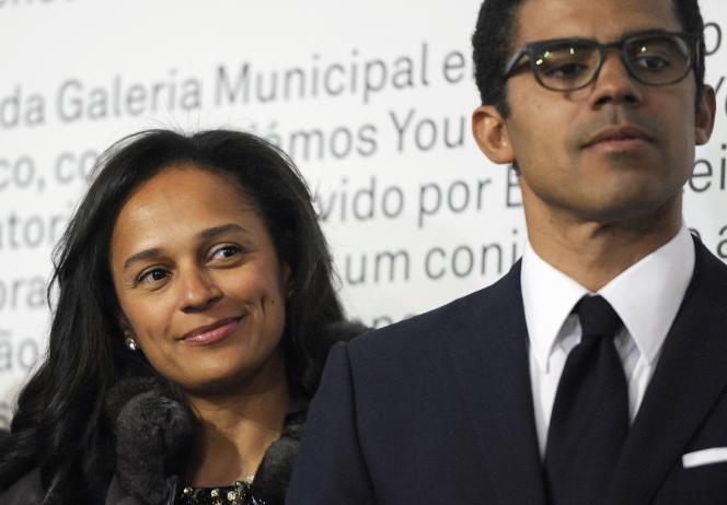 Sindika Dokolo (à droite) et son épouse Isabel dos Santos à Porto, au Portugal, en mai 2014.