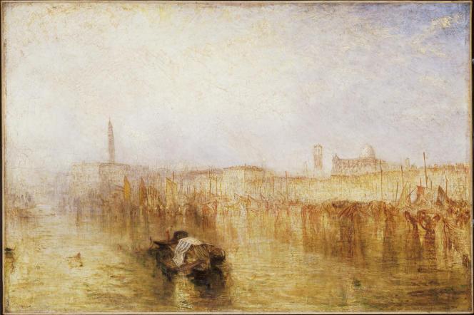 «Quai de Venise, palais des doges», exposé en 1844, huile sur toile. (Tate, accepté par la nation dans le cadre du legs Turner, 1856.)
