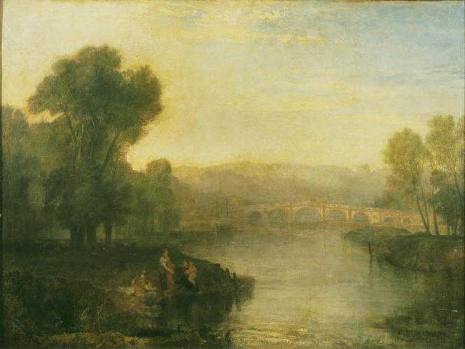 «Vue de Richmond Hill et d'un pont», exposé en 1808, huile sur toile. (Tate, accepté par la nation dans le cadre du legs Turner, 1856.)