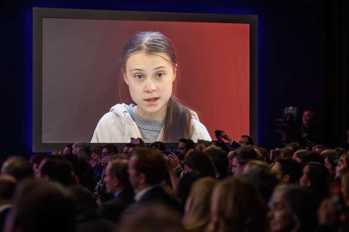Greta Thunberg à Davos, mardi21janvier.