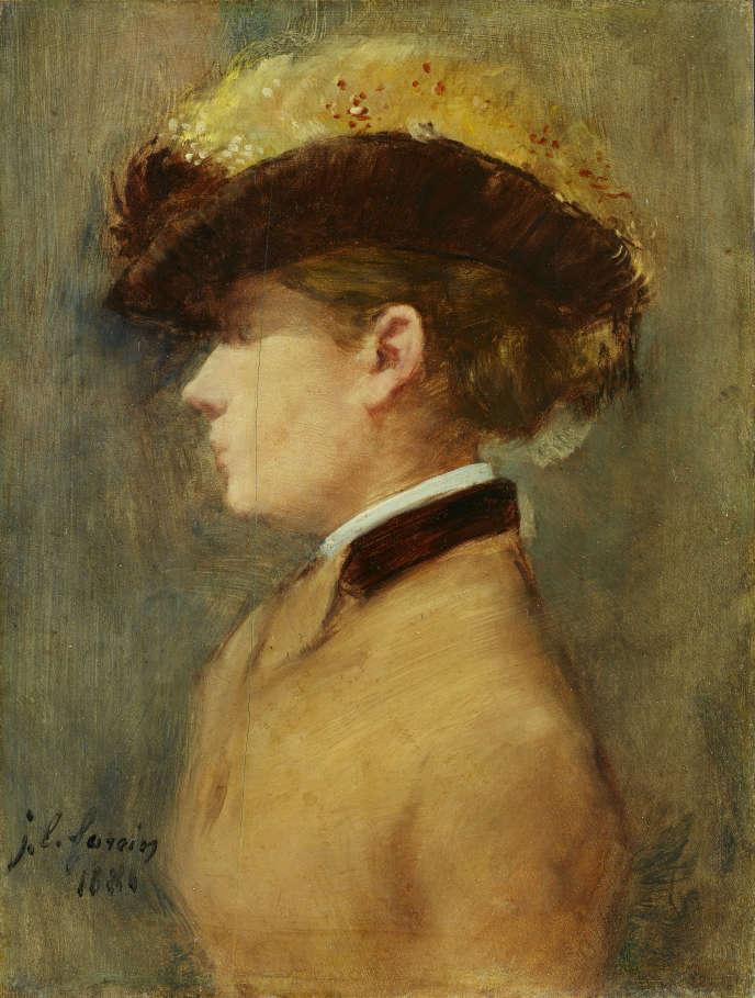 « Portrait de femme de profil» (1881), de Jean-Louis Forain, huile sur toile.